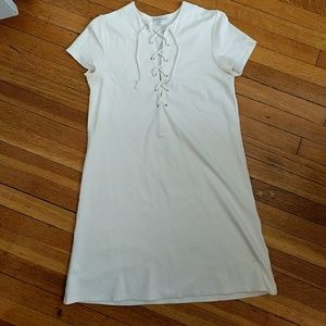 Charlotte Russe White Lace Up Dress